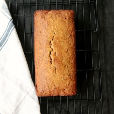 Vegan Banana Bread (Whole Wheat and No Refined Sugar)