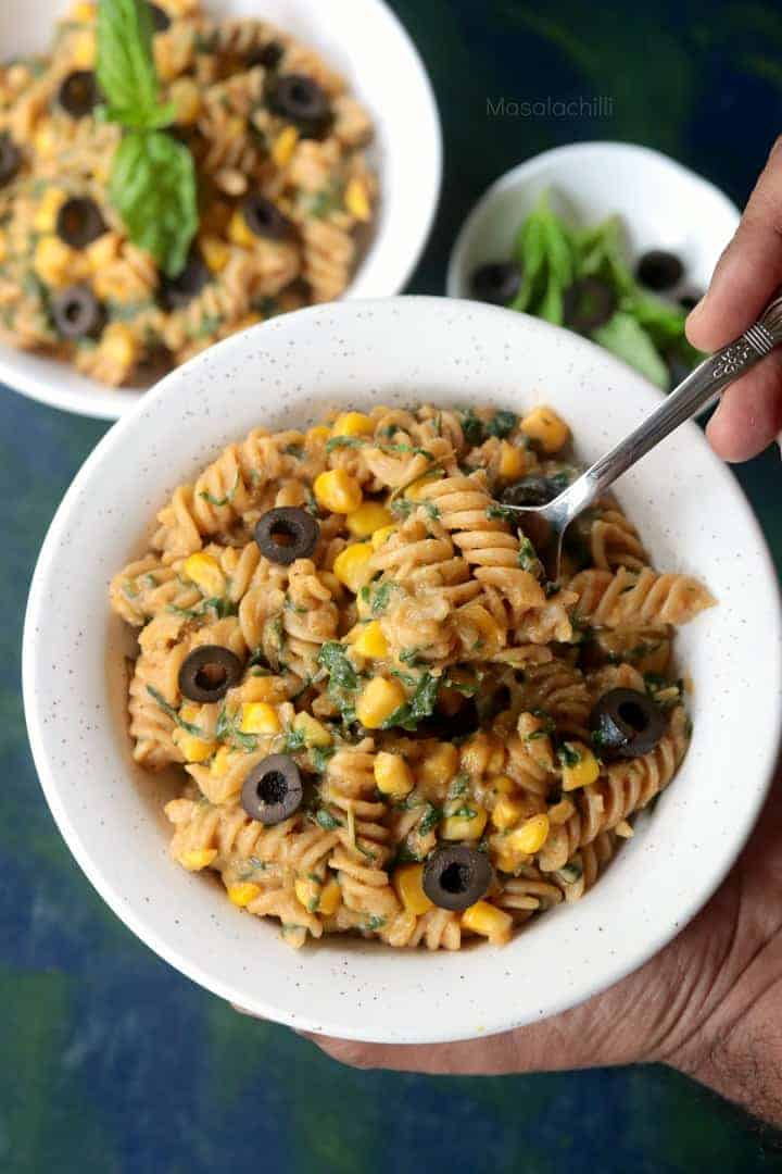 Easy Vegan Pumpkin Sauce Pasta Recipe