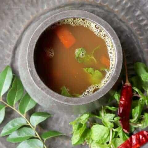 Pudina Rasam   Mint Rasam   South Indian Mint Soup