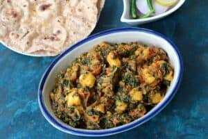 Kale Potato Sabzi (Stir Fried Kale and Potato)
