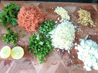 Ingredients for Lemon Coriander Soup