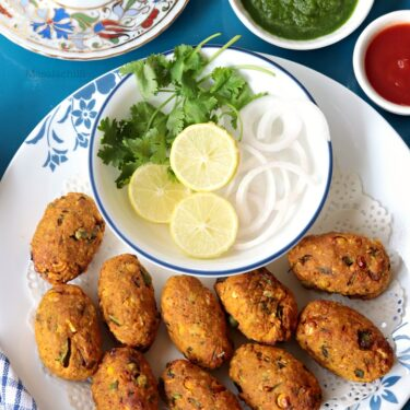 Veg Cutlet Recipe (Air Fryer Recipe + No Breadcrumbs)