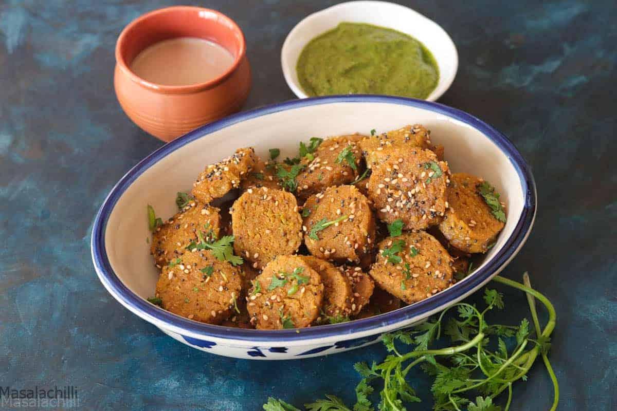 Dudhi Muthiya Recipe | Lauki Muthiya | Steamed Bottle Gourd Snack