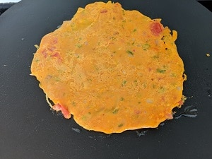 tomato omelette is ready to serve